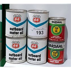 6 FULL OIL TINS