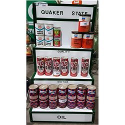 QUAKER STATE OIL DISPLAY RACK