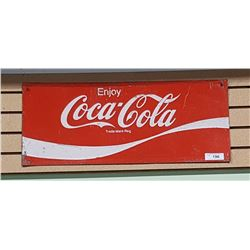 1960'S COCA COLA TIN DOOR KICK SIGN