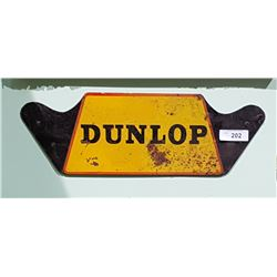 1950'S DUNLOP METAL TIRE RACK SIGN