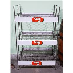 1950'S/1960'S ORANGE CRUSH METAL STORE DISPLAY RACK