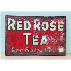 1940'S RED ROSE TEA TIN SIGN (FOR SALE HERE)