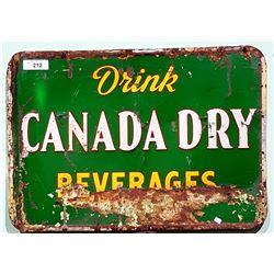1950'S CANADA DRY TIN SIGN