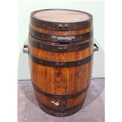 VINTAGE WHISKEY BARREL CONVERTED TO A SMOKER