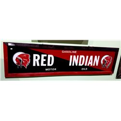 RED INDIAN METAL SIGN