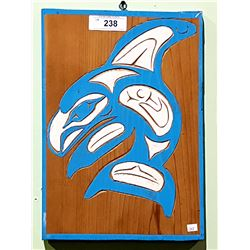 NATIVE CARVED ORCA PLAQUE