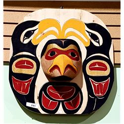 NATIVE CARVED SUN MASK