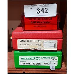 3 SETS OF 308 WINCHESTER DYES