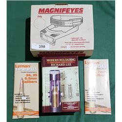 """3 RELOADING BOOKS AND JEWELRY HEADSET """"MAGNIFEYES"""""""
