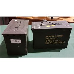 PAIR OF STEEL AMMO BOXES
