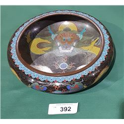 ANTIQUE JAPANESE CLOISONNE DRAGON BOWL