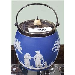 WEDGWOOD JASPERWARE BISCUIT BARREL
