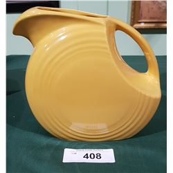 VINTAGE FIESTA WARE JUG IN YELLOW