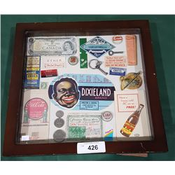 DISPLAY CASE VINTAGE COLLECTIBLES-ALL ORIGINAL PIECES