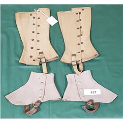 2 PAIRS OF VINTAGE SPATS