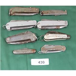 8 VINTAGE POCKET KNIVES