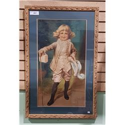 ORNATE GILT FRAMED PRINT OF A YOUNG LORD