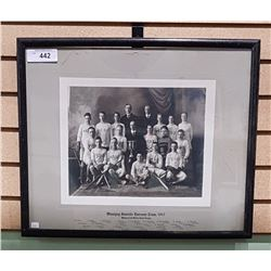 FRAMED 1917 WINNIPEG JUVENILE LACROSSE TEAM PHOTO