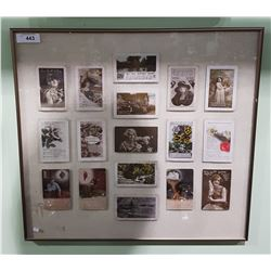 FRAMED COLLECTION OF VINTAGE POSTCARDS FROM 1930'S/1940'2