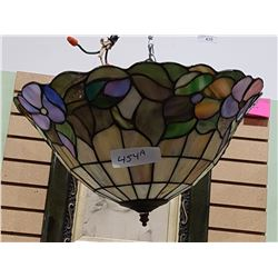 TIFFANY STYLE STAIN GLASS HANGING LAMP