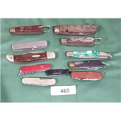 11 VINTAGE POCKET KNIVES