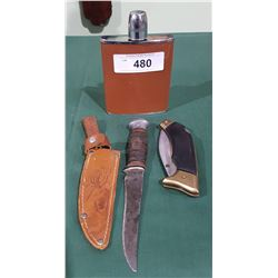2 KNIVES AND A FLASK