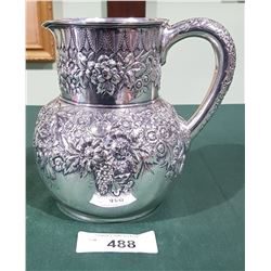 ANTIQUE TIFFANY AND CO STERLING SILVER WATER PITCHER