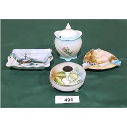 4 COLLECTIBLE PORCELAIN DISHES
