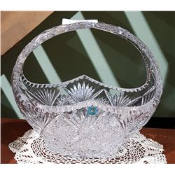 LARGE BOHEMIAN CRYSTAL BASKET