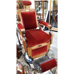 1908 THEO-A-KOCHS BARBER CHAIR (FULLY RESTORED)