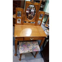QUALITY VANITY TABLE AND STOOL