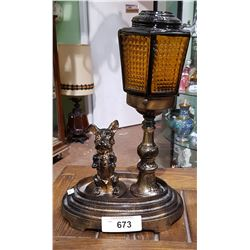 VINTAGE FIGURAL DOG TABLE LAMP