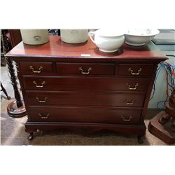 ANTIQUE MAHOGANY 6 DRAWER DRESSER