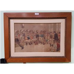 ANTIQUE FRAMED JOCKY PRINT