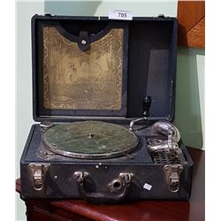 ANTIQUE THE ALLAN PORTABLE MODEL 5 PHONOGRAPH