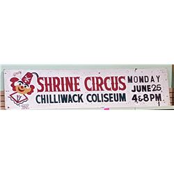 1970'S HAND PAINTED WOOD SHRINE CIRCUS SIGN