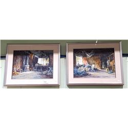 2 FRAMED ORIGINAL OIL ON CANVAS SIGNED COLLIN