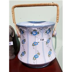 VICTORIAN HAND PAINTED PORCELAIN SLOP BUCKET (REPLICA)