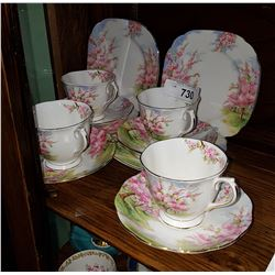 12 PC ROYAL ALBERT BLOSSOM TIME CHINA LUNCHEON SET