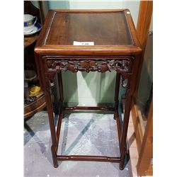 ASIAN CARVED ROSEWOOD OCCASIONAL TABLE