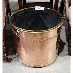 ANTIQUE HAND BEATEN COPPER BUCKET