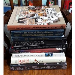 10 HARD COVER ART AND PHOTOGRAPHY BOOKS