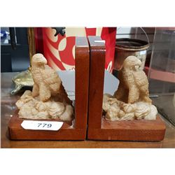 PAIR OF FIGURAL EAGLE BOOKENDS