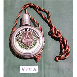 WWI PAROLE HEIMUT! GERMAN SERVICE DISCHARGE FLASK