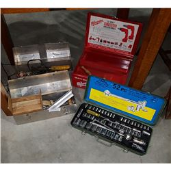 4 TOOL BOXES & CONTENTS