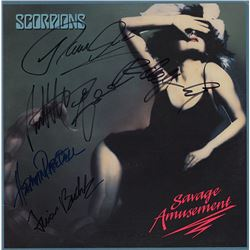 Scorpions Signed Savage Amusement Album