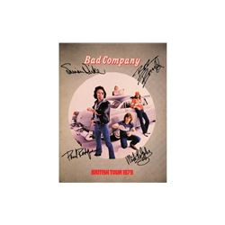 Bad Company Autographed Tour Book