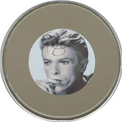 David Bowie Signed Drum Head