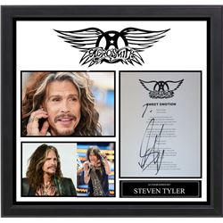 "Steven Tyler Autographed Lyric ""Sweet Emotion"""