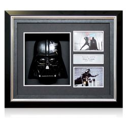 Star Wars' Framed Signed Darth Vader Mask